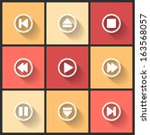 vector design flat icons for... | Shutterstock .eps vector #163568057
