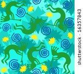 jpeg background of kokopelli... | Shutterstock . vector #16357843