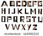 vector alphabet letters made...   Shutterstock .eps vector #163582223