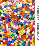 Small photo of Beads beads and more beads all hollow and plastic and in a wide variety of different colors