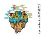 vector world globe illustration ... | Shutterstock .eps vector #163593617