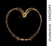 sparkler heat heart | Shutterstock . vector #163622693