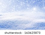 Background Of Snow. Winter...