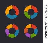 circular chart template set.... | Shutterstock .eps vector #163642913