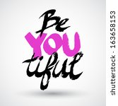 "grunge typographic ""be you... 