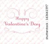 happy valentine's day card 2 ...   Shutterstock .eps vector #163661597