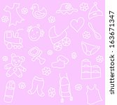 baby equipment and toys vector... | Shutterstock .eps vector #163671347