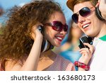 image of young people having...   Shutterstock . vector #163680173