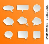 abstract vector white speech... | Shutterstock .eps vector #163680803