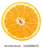 orange slice isolated on white... | Shutterstock . vector #163688633