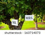Signs Read Mr And Mrs Or Mr....