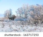 winter landscape  | Shutterstock . vector #163717253