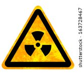 yellow nuclear sign isolated on