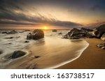 Seashore, beach with stunning light