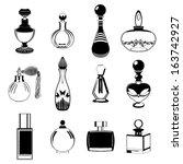 resumo,antiguidade,aromaterapia,beleza,preto,garrafa,coleção,colónia,recipiente,cosméticos,criativa,cristal,desodorante,desenho,elegante