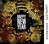 new year and christmas light... | Shutterstock .eps vector #163744997