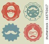 hipster christmas label....   Shutterstock .eps vector #163752617