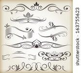 vintage calligraphic vector... | Shutterstock .eps vector #163755623
