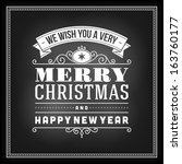 christmas postcard ornament... | Shutterstock .eps vector #163760177