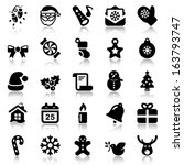 set of black icons for... | Shutterstock .eps vector #163793747