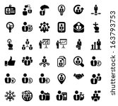 set of business people icons in ... | Shutterstock .eps vector #163793753