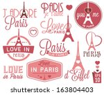 paris   eiffel tower badges and ...