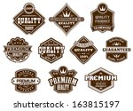 labels and banners set in... | Shutterstock .eps vector #163815197