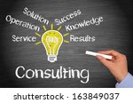 consulting | Shutterstock . vector #163849037