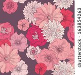 seamless floral pattern. hand... | Shutterstock .eps vector #163854263
