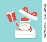santa claus and gift box | Shutterstock .eps vector #163860683
