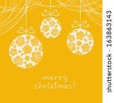 vector christmas background.... | Shutterstock .eps vector #163863143