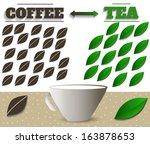 coffe and tea in retro style
