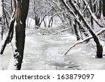winter landscape  | Shutterstock . vector #163879097