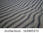 Wave Line Texture In Sand On...