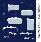 christmas blue sale stickers... | Shutterstock .eps vector #163890407
