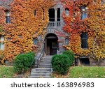 Old College Building With Fall...