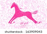 happy new year 2014  year of...   Shutterstock .eps vector #163909043