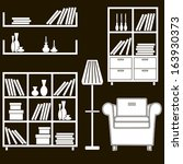 living room furniture icons 5 | Shutterstock . vector #163930373