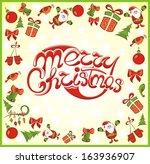 merry christmas illustration | Shutterstock .eps vector #163936907