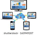 cloud computing concept design. ...   Shutterstock .eps vector #163949207