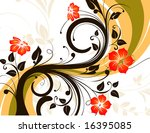 floral abstraction. vector... | Shutterstock .eps vector #16395085