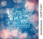 save the date for personal... | Shutterstock .eps vector #163971467