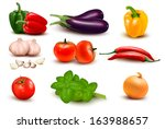 the big colorful group of... | Shutterstock .eps vector #163988657