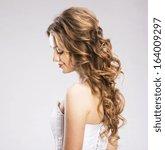 studio portraits with beautiful ... | Shutterstock . vector #164009297