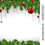 christmas background with fir... | Shutterstock .eps vector #164015267