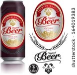 beer label vector visual on... | Shutterstock .eps vector #164019383