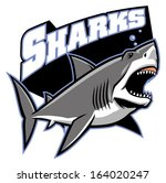 great white shark mascot - stock vector