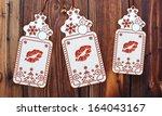trendy 3d rendered christmas... | Shutterstock . vector #164043167