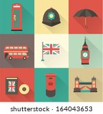 london vintage icons vectors | Shutterstock .eps vector #164043653