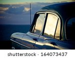 car at beach | Shutterstock . vector #164073437